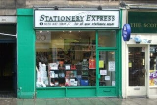 Stationery Express Morningside Road shop front