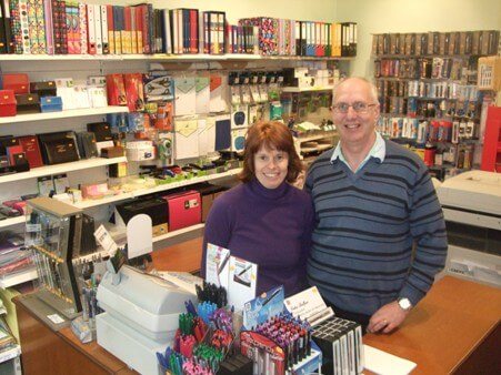Gill and Brian Burgess of Stationery Express, Morningside, Edinburgh